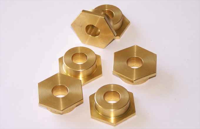 CNC turned Brass Inserts.