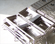 TIG (GTAW) welded 304 grade stainless steel floor grate frames..