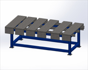 Welding table for 3D work with removable panels..